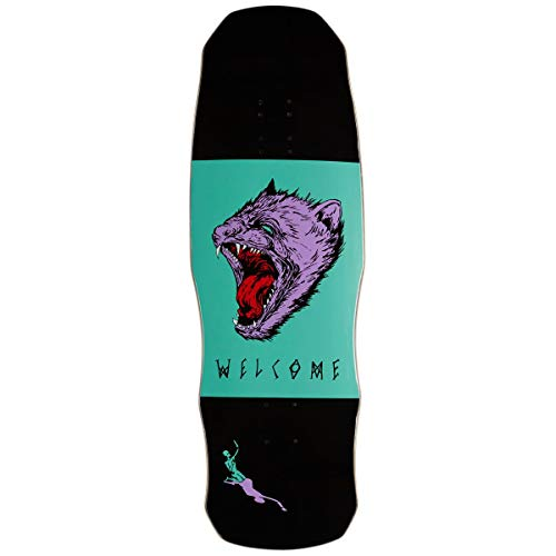 - Welcome Tasmanian Angel On A Dark Lord Skateboard Deck - Black/Teal - 9.75