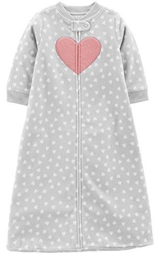 Carter's Unisex Baby Fleece Sleepbag Sleepsuit, Heart, Medium 6-9 Months