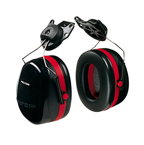 3M Peltor Optime 105 Helmet Attachable Earmuff, Ear Protectors, Hearing Protection, NRR 27 dB