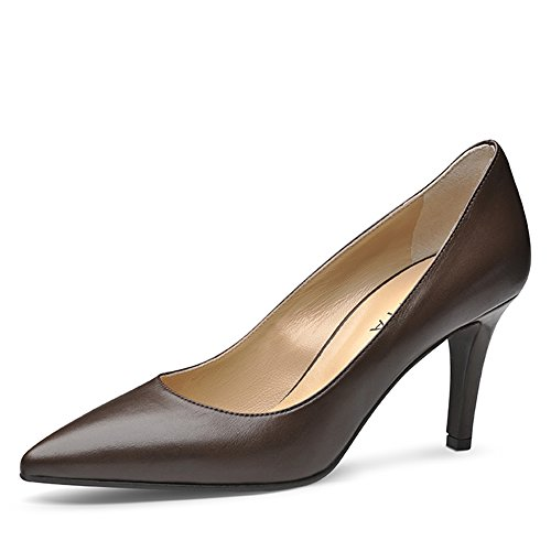 Evita Shoes Aria Damen Pumps Glattleder Braun