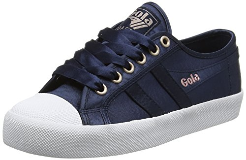 Gola WoMen Coaster Satin Navy/White Trainers Blue (Navy/White Ew Blue)