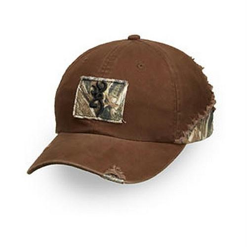 Browning Duck Blind - Browning Men's Tatter Reed Adjustable Cap, Mossy Oak Duck Blind/Brown, Adjustable