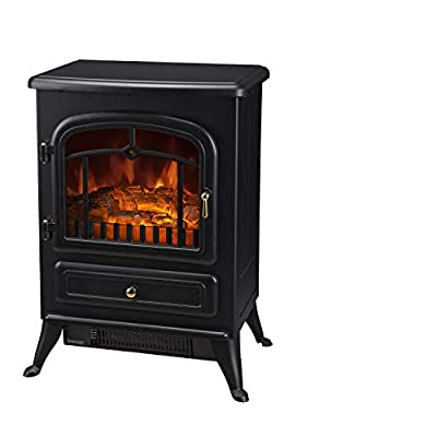Warm Winter 750/1500W Electric Fireplace Freestanding Fire Flame Stove Heater Adjustable