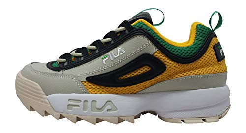 Fila Disruptor 2 Premium Shoes - Mens, 12 D(M) US, Yellow/Green/White from Fila