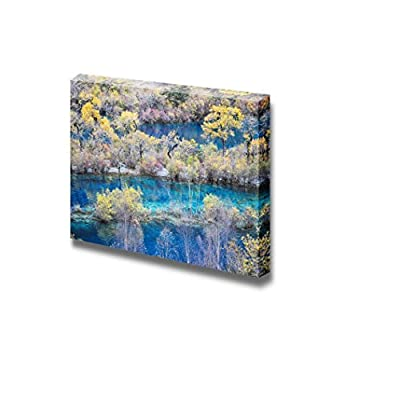 Canvas Prints Wall Art - Majestic Scenery/Landscape Jiuzhaigou National Park in China | Modern Wall Decor/Home Art Stretched Gallery Canvas Wraps Giclee Print & Ready to Hang - 16