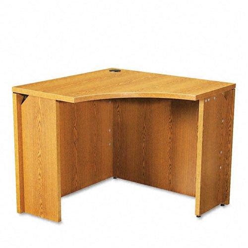 HON 105810MM 10500 Series 18 by 36 by 29-1/2-Inch Curved Corner Workstation Desk, Medium Oak
