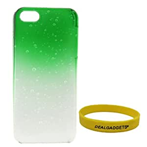 Dealgadgets Gradient Water Drop Pattern Plastic Hard Case Cover for for Apple iPhone 5 5G with Free Wristband from Dealgadgets (Green)