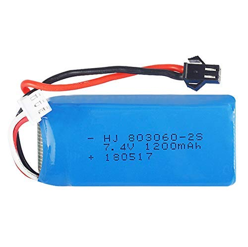 Gecoty 7.4V 1200mAh 25C Lipo Battery with SM 2P Plug for JJRC H26 H26C H26D H26W RC Quadcopter