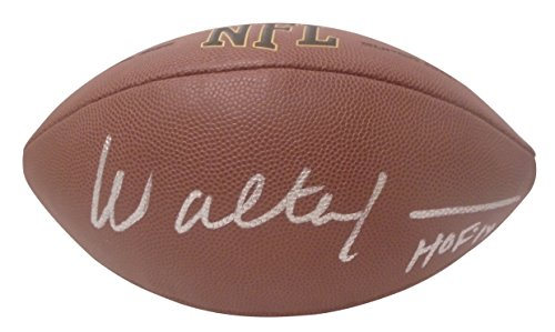 (Seattle Seahawks Walter Jones Autographed Hand Signed NFL Wilson Football with HOF Inscription and Proof Photo of Signing and COA, FSU Florida State University Seminoles)