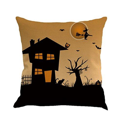 Clearance ! AmyDonghalloween gifts Fall autumn Harvest pumpkin Cotton Linen Throw Waist Pillow Case Decorative Cushion Cover Pillowcase (Pumpkin Decorations For Sale)