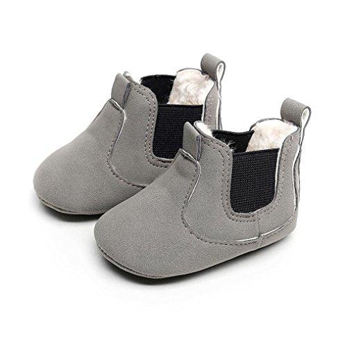 Clode® Kleinkind Neugeborenes Baby Jungen Mädchen Krippe Winter Stiefel Prewalker Warme Martin Schuhe Grau