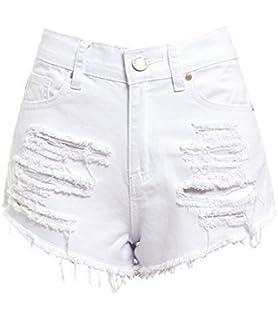 SS7 Short Pour Femmes Taille Haute Déchiré 0f8b441bb69