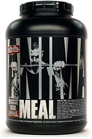 Universal Nutrition Animal Meal – All Natural High Calorie Meal Shake – Egg Whites, Beef Protein, Pea Protein, Chocolate