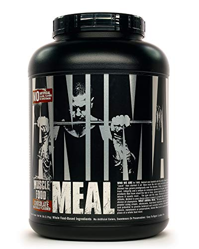 Animal Meal - All Natural High Calorie Meal Shake - Egg Whites, Beef Protein, Pea Protein, Chocolate, 5 Pound (3930)