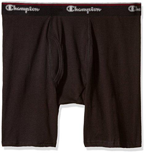 6 Pack Briefs (Champion Men's 6 Pack Smart Temp Boxer Brief (Large, Black))