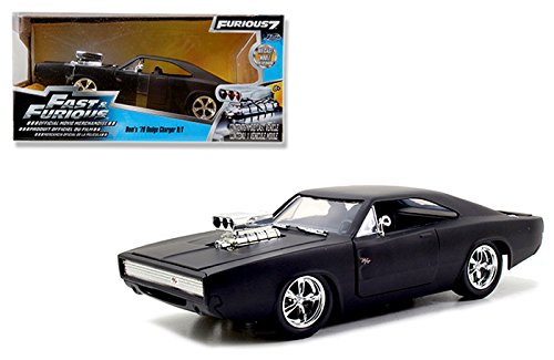 Jada 1:24 Fast & Furious - 1970 Dodge Charger Street Mat Black (Muscle Machines Rc)