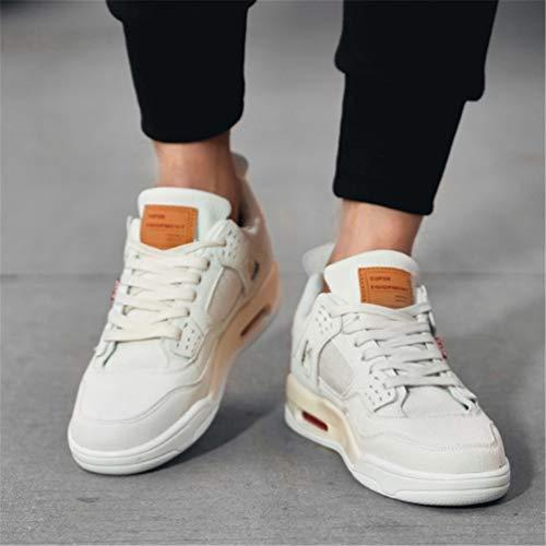Superior Lona Casuales Alta Entrenadores Blanco Retro Hombres Cómodas Zapatillas De Denim Zapatos Colchón Calle Para Moda Hombre EwqIpO