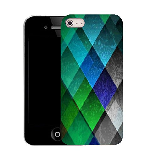 Mobile Case Mate IPhone 5 clip on Silicone Coque couverture case cover Pare-chocs + STYLET - diamond motley pattern (SILICON)