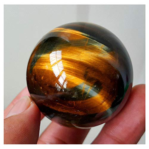 (m·kvfa Dark Yellow Asian Rare Tiger Eye Quartz Crystal Healing Ball Sphere 2.5mm Toy Jewelry Decoration A Great Gift for Your Friends Family Or Love Ones)