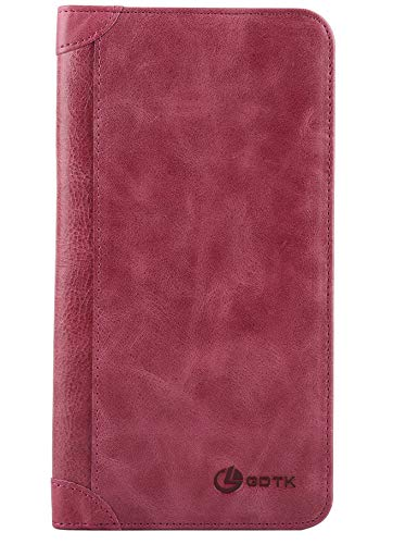 Women's Wallet - Genuine Italian Leather Long Bifold RFID Blocking Wallet - Italian Genuine Leather