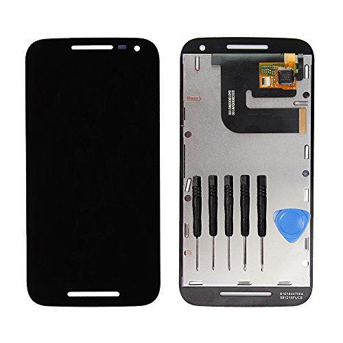 LL TRADER For Motorola Moto G3 XT1541 XT1540 Black LCD Digitizer Assembly Replacement Display Touch Screen