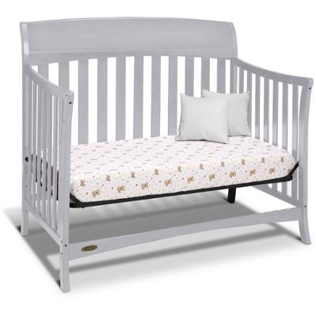 Best Seller Convertible Furniture Cribs for Baby, Graco Lennon 4-in-1 Convertible Crib, Pebble Gray by Graco (Image #2)'