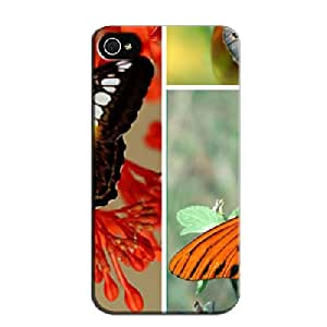 THREE BEAUTIES Yellow For Iphone 4/4s Anti-scratch TPU Case Cover