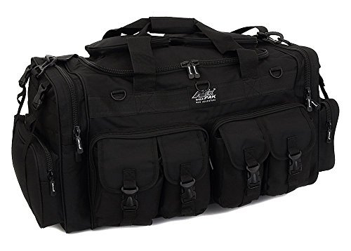 Mens Large 30″ Inch Black Duffel Duffle Military Molle Tactical Cargo Gear Bag