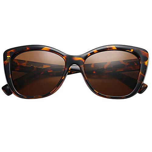Polarspex Polarized Womens Oversized Square Jackie O Cat Eye Fashion Sunglasses