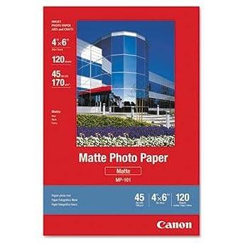 Amazon.com: Canon – 2 Pack – Papel fotográfico mate 4 x 6 45 ...