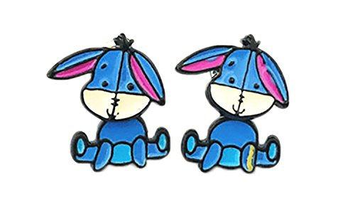 (Chibi Eeyore Winnie the Pooh Stud Earrings With Gift Box from Outlander)