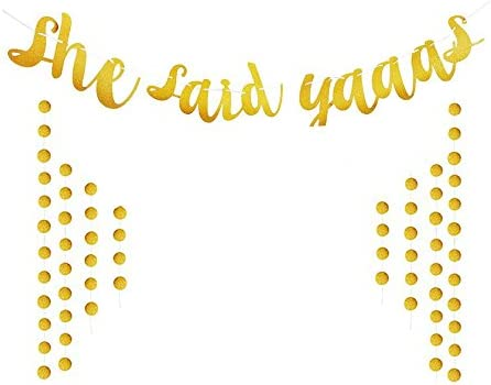 She Said Yaaas Banner Bridal Shower Banner Bride To Be Engagement Patty Dedecoration