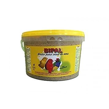 Bipal Pasta de cría Blanca, Cubo de 5 kg, (enriquecida con probióticos). Canarios, periquitos, exóticos y granívoros: Amazon.es: Jardín