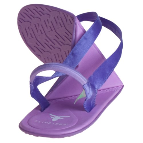 Flipsters Foldable Flip Flop Sandals- Purple - Small