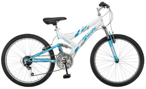 Amazon Com Pacific Girl S Chromium Mountain Bike White One Size