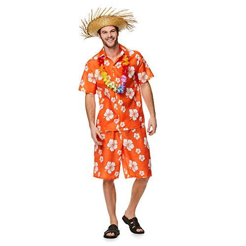 Men's Hawaiian Luau Guy Costume, for Halloween Party Accessory, Large