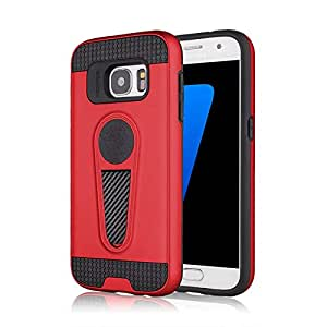 RAG&SAK King Armour Shock Proof with Kick stand Case for Samsung S7- Red