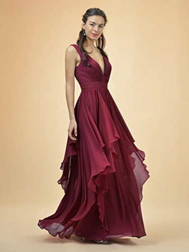 Bridal Event Neck Bridesmaid Party Dress Dress Alicepub Turquoise V Formal Long Women's Gown z0wzZg