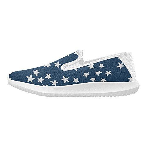 Interestprint Kvinna Slip-on Dagdrivaren Skor Duk Mode Sneakers Multi 12