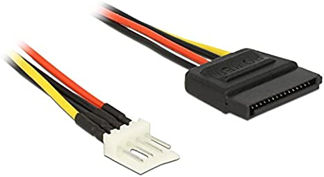DeLOCK Cavo di Alimentazione SATA 15 Pin  Floppy 4 Pin connettore 24 cm