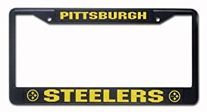 rico industries nfl chrome license plate frame pittsburgh steelers
