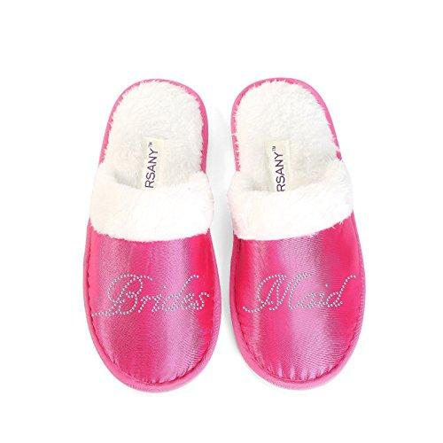 Slippers Party Bridesmaid Bride Spa Close Gifts Toe Varsany Pink Luxury Crystal Hen Honeymoon O8F6xwnYq