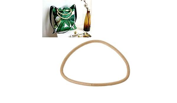 Shoresua - Monedero con asa de ratán de bambú en Forma de D ...