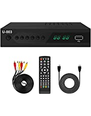 Analog to Digital TV Converter Box - UBISHENG Set-Top Box/ TV Box/ ATSC Tuner for 1080P HDTV with TV Tuner, Time Shift, EPG, PVR Recording&Playback, Media Player, HDMI, Timer Setting, QAM, Channel 3/4 From Canada