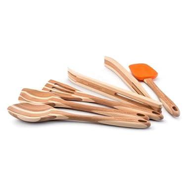 Rachael Ray Tools Bamboo 5-Piece Tool Set, Orange
