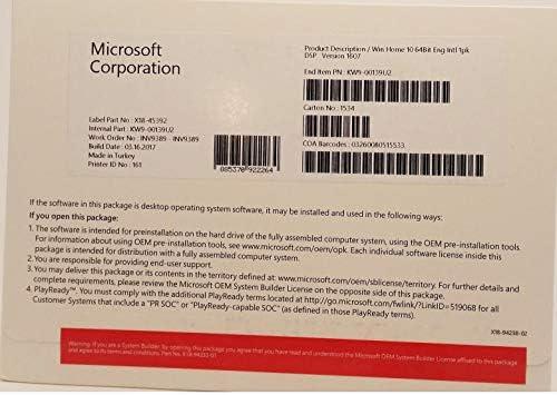 Fabulous Microsoft Windows 10 Home 64 Bit English Intel 1 Pack Dsp Home Interior And Landscaping Spoatsignezvosmurscom
