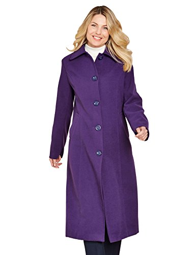 42 Grape Lunghezza Lana Cappotto Faux Pollici Le Signore vqHwxCXB
