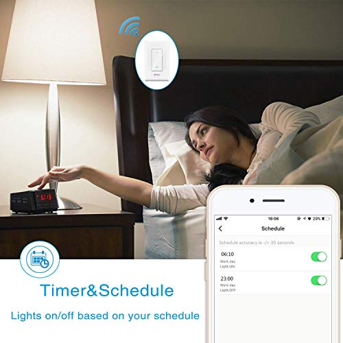 Smart Light Switch Gosund in-Wall Wifi Smart Switch Works with Amazon Alexa Google Home and IFTTT, [Timer/Countdown/Scene] Remote Control, Single-Pole, No Hub Required, Easy Installation (4 pack) by TanTan (Image #6)