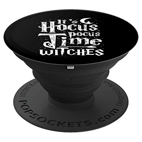 It's Hocus Pocus Time Witches Cute Halloween Art Gift - PopSockets Grip and Stand for Phones and Tablets