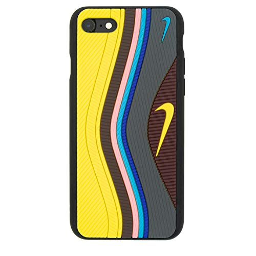 iPhone 3D Sean W/Undefeated Air Max 97 Shoe Case Official Print Textured Shock Absorbing Protective Sneaker Fashion Case (Yellow, iPhone 7+/8 Plus)